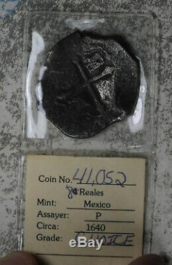 Concepcion Shipwreck Spanish 8 Reales Cob Spanish Piece of Eight Circa 1640