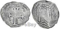 Concolacion Shipwreck (1681) Potosi, Bolivia Silver Cob 8 Reales 1679C withCOA