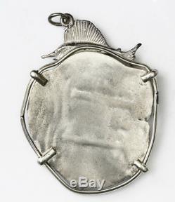 Consolacion Shipwreck (1681) Potosi Bolivia Cob 8 Reales In Silver Bezel Pendant