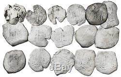 Consolacion Shipwreck 1681 Potosi Cobs 8 & 4 Reales (16 Coins) Dealer Wholesale
