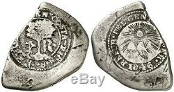 Costa Rica Coin Silver Cob 1 Real 1846 CR Counterstamp