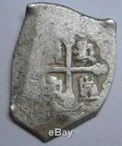 Era 1715 Treasure Fleet 8 Real Cob Mexico Philip V Spain Colonial Silver