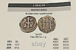 ¡¡ Extremely Rare! Silver Cob 2 Reales Lanza Maracaibo (venezuela)