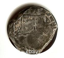 ¡¡ Extremely Rare! Silver Cob 8 Reales Philip Iv. Nuevo Reino Colombia. N. R. A