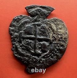 Extremely Raresilver Cob 2 Reales Heart Philip V Year 1706 P Ngc Xf