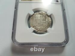 Ferdinand V & Isabel I SPAIN 1R Real NGC XF40 Silver 1474-1504 Toledo Reales COB