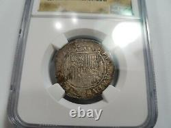 Ferdinand V & Isabel I SPAIN 1R Real NGC XF45 Silver 1474-1504 Burgos Reales COB