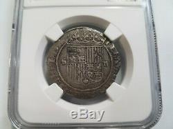 Ferdinand V & Isabel I SPAIN 2R Two Reales NGC XF40 Silver 1474-1504 Seville COB