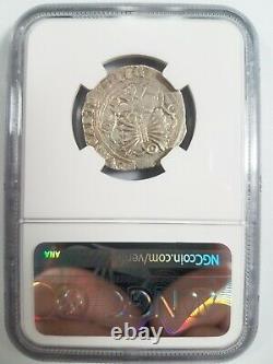 Ferdinand V & Isabel I SPAIN Real NGC AU55 Silver 1469-1504 Seville Reales COB
