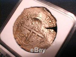 Four Digit Date! 1650 Bolivia Cob 8 Reales + Assayer Roas withCrowned Countermark