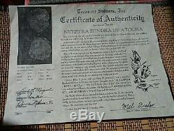Genuine Atocha 8 Reales Silver Spanish Treasure Cob Coin Pendan With Certificate