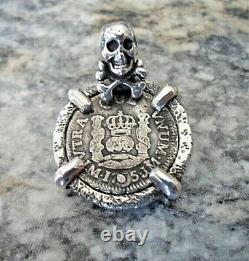 Genuine FerdinandV(1746-1759) 1/2 Reales Silver Spanish Treasure Cob Coin Custom