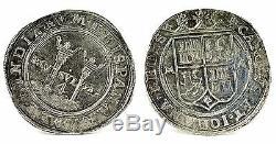 Golden Fleece Wreck Mexico Charles-Joanna 4 Reales Silver Cob Coin COA 13.08g