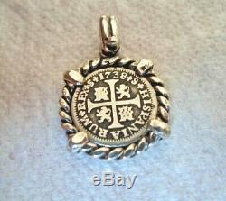 High Grade Genuine 1738 1/2 Reales Silver Spanish Treasure Cob Coin Jewelry
