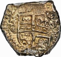 Ii VERY RARE! SILVER COB REAL PHILIP IV. NUEVO REINO (Colombia) 1653. AU50
