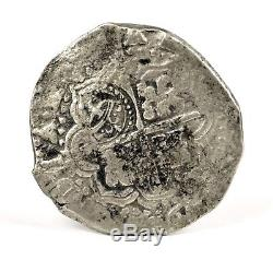 La Capitana 1649 Z/O Bolivia Potosi 8 Reales Crowned L Silver Cob Coin 24.86g