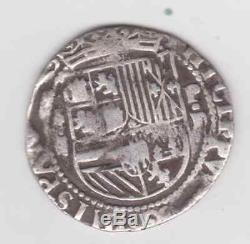Lima Peru, cob 2 reales, Philip II, assayer Diego de la Torre, -ii to left, P-OD