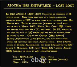 Lost Loot Atocha 1622 Shipwreck Bolivia 8 Reales Grade 2 Pirate Gold Coins Cob