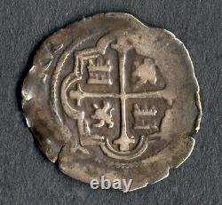 Lovely Pirate Cob Spanish colonial 1589-1617 Silver 1 Real Mexico Mº F