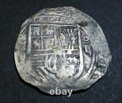 Lovely pirate cob spanish colonial Mexico (1556-98)-Mo O Silver 2 Reales