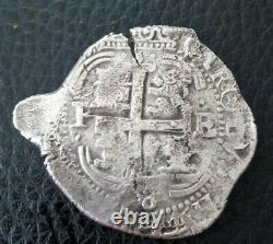 Lovely pirate cob & spanish colonial Silver 8 Reales Potosi P E 1678 3 Dates