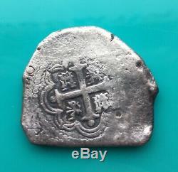 MEXICO 1730 8 REALES PHILIP V MoR Silver Coin Spanish Cob Felipe V
