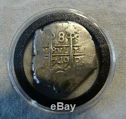 MEXICO 1749 8 REALES COB Posi COLONIAL WORLD COIN From Estate Collecter 26.5 G