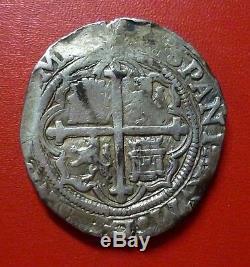 MEXICO SILVER COB 4 Reales, KM 1556-1598 (Philip II)