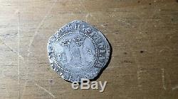 Mexican Silver Cob Coin Macuquina Charles and johanna 1 Real Juana la loca