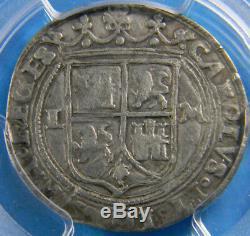 Mexico (1516-1556) LM 1 Real Silver cob Carlos & Johanna PCGS VF30