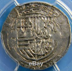 Mexico (1556-98) 2 Reales Silver cob PCGS AU 55 Philip ll Km # 31