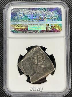 Mexico 1732MO F 8 Reales Cob Vliegenthart Shipwreck Coin NGC Genuine
