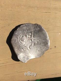 Mexico 8 reales Silver Cob Coin. 26.8 Grams
