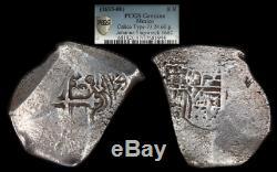 Mexico 8-reales cob, PCGS Fine details, with 1682 Johanna shipwreck pedigree