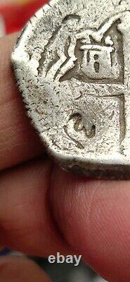 Mexico Spain Colonial 4 Reales Cob Omp C/m Very Nice