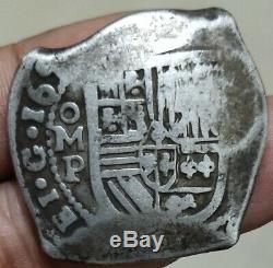 Mexico Spain Colonial 8 Reales Cob 165x Omp C/m Brazil 600 Reis Xf Rare