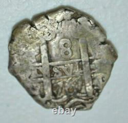 Mexico Spanish Colonial 8 Reales Silver Cob Coin Piece of Eight