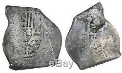 Mexico, cob 8 reales, 1715 Fleet Philip V, assayer not visible. 25.42 grams