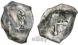 Mexico, cob 8 reales, Philip V, assayer not visible. 24.91 grams. 1715 Fleet