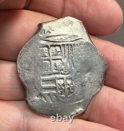 Mexico, silver 8 Reales Cob, probably Philip III, 1599-1621