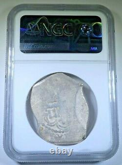 NGC 1724-8 Mexico Silver 8 Reales Genuine 1700s Spanish Colonial Pirate Cob Coin