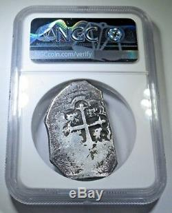 NGC 1730-33 Spanish Silver 8 Reales Eight Real Cob Colonial Pirate Treasure Coin