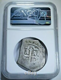 NGC 1730 Spanish Mexico Silver 8 Reales Antique Colonial Dollar Pirate Cob Coin