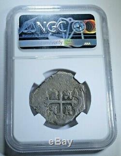 NGC 1732 Spanish Mexico Silver 8 Reales Antique 1700's Colonial Dollar Cob Coin