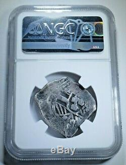 NGC 1820 Madura Island 1/2 Real Batu 1700s Mexico Cob Sumenep Countermark Coin