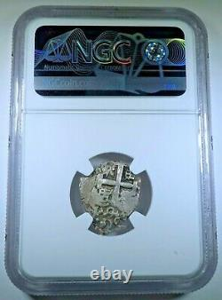 NGC MS62 1748 Bolivia Silver 1 Reales Antique BU 1700s Spanish Colonial Cob Coin