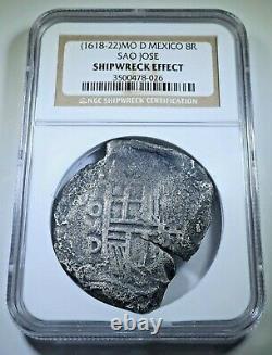 NGC Sao Jose Shipwreck 1618-22 Mexico Silver 8 Reales 1600's Spanish Cob Coin