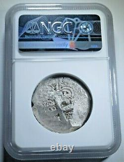 NGC VF35 1767 Spanish Bolivia Silver 8 Reales Antique Colonial Dollar Cob Coin