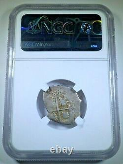 NGC VF-25 1688-P VR Bolivia Silver 1 Reales 1600's Spanish Colonial Cob Coin