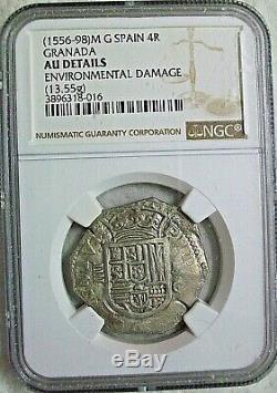 Nd (1556-1598) Mg Spain Felipe II Cob 4 Reales Au-details L@@k